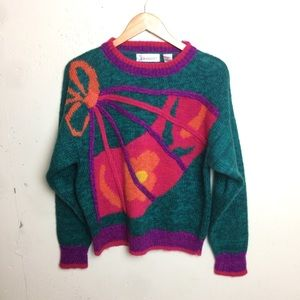 🌵Diversity VTG Colorful Abstract Sweater Large